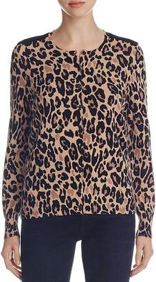 Foxcroft Leopard Print Cardigan $89 thestylecure.com