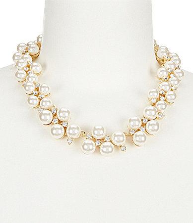Anne KleinAnne Klein Pearl Collar Necklace