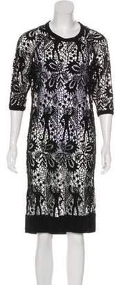 Isabel Marant Open Knit Knee-Length Dress Black Open Knit Knee-Length Dress