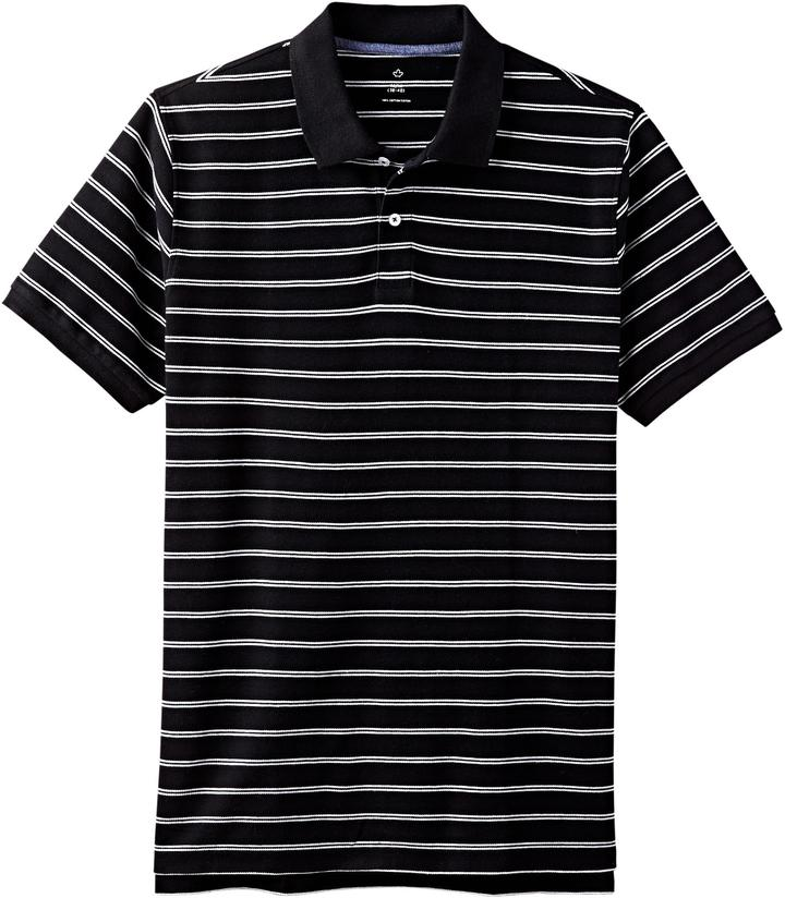 Sears men 39 s striped pique polo shopstyle clothing for Sears dress shirts sale