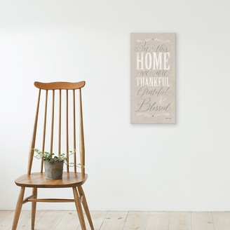 "Artissimo Designs ""In This Home"" Canvas Wall Art"