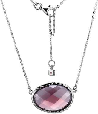Elle Fire Ice Sterling Silver Cubic Zirconia Pendant Necklace