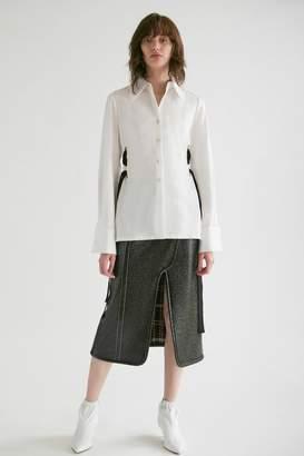 Yigal Azrouel Cotton Shirting Blouse