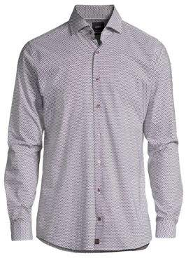 Strellson Sereno Geometric Print Button-Down Shirt