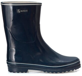 Aigle Shiny Lined Natural Rubber Wellington Boots
