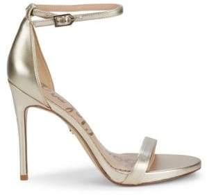 Sam Edelman Ariella Ankle-Strap Leather Stiletto Sandals