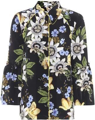 Erdem Aran floral-printed silk shirt