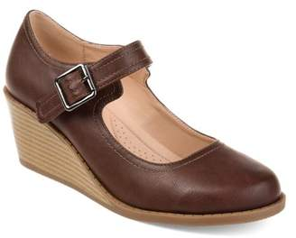 Co Brinley Womens Comfort-sole Mary Jane Faux Leather Wedges