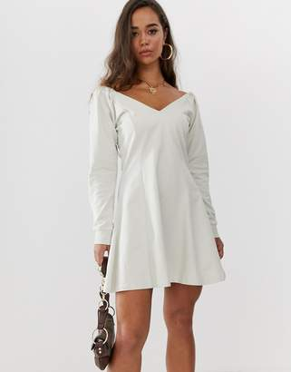 Asos DESIGN fit and flare mini sweat dress