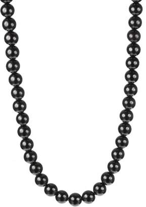 Sterling Silver Clasp with Magnetic Hematite 10mm Round Bead Necklace