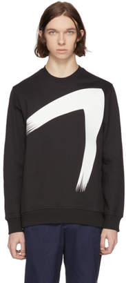 Diesel Black Gold Black Paint Brush Sweatshirt