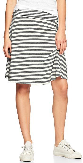 Gap Stripe foldover skirt