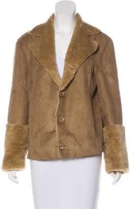 Dolce & Gabbana Faux Shearling Short Coat
