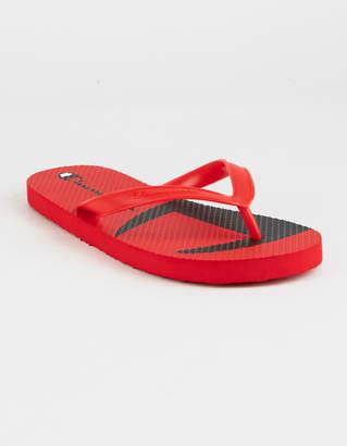 Champion C Split Red Mens Flip Flops