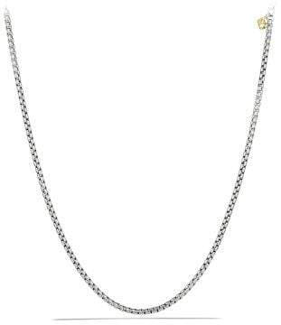 David Yurman Medium Box Chain Necklace With An Accent Of 14K Gold,