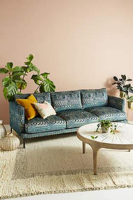Anthropologie Rosa Print Linde Three-Cushion Sofa