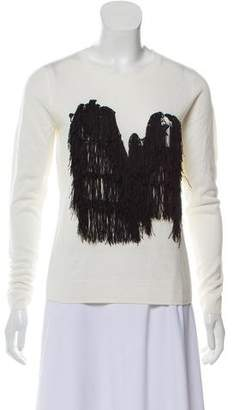 Opening Ceremony Fringe-Accented Scoop Neck Sweater w/ Tags