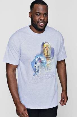 boohoo Big And Tall Droids Portrait License T-Shirt