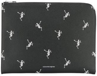 Alexander McQueen Dancing Skeleton pouch
