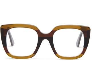 Gucci Oversized striped acetate glasses