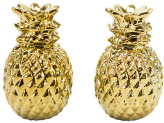 Boston Warehouse Trading Corp Pineapple 2 Piece Salt and Pepper Shakers Set