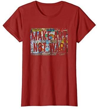 Make Art Not War Peace Graffiti Hippy T Shirt