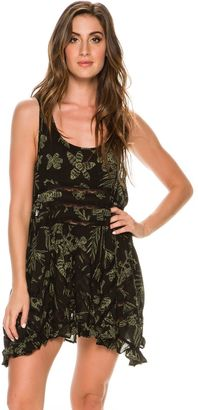 Free People Printed Viscose Voile Trapeze Slip $88 thestylecure.com