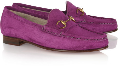 Horsebit-detailed suede loafers