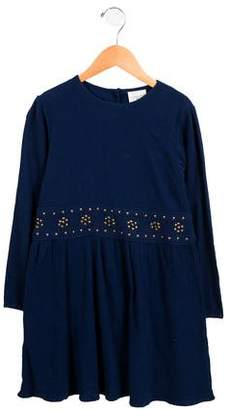 Louis and Louise Girls' Embellished Long Sleeve Dress