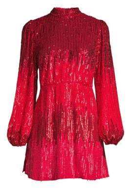 Alice + Olivia Rixo Samantha Beaded A-Line Dress