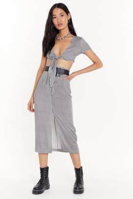 Nasty Gal Easy Does It Gingham Top and Skirt Set