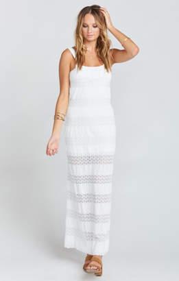 MUMU Harlowe Maxi Dress ~ Mademoiselle Lace White