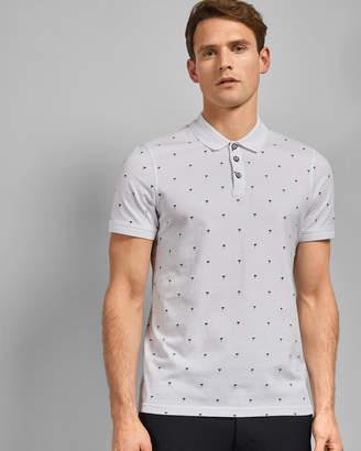 Ted Baker TUKA Palm tree cotton polo shirt