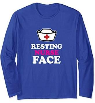 Resting Nurse Face Funny & Snarky Long Sleeve