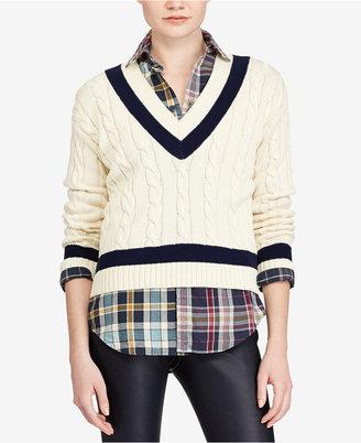 Polo Ralph Lauren Cotton Cricket Sweater $198 thestylecure.com