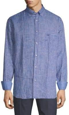 Paul & Shark Check Linen Shirt