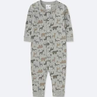 Uniqlo Newborn Long-sleeve One-piece Outfit