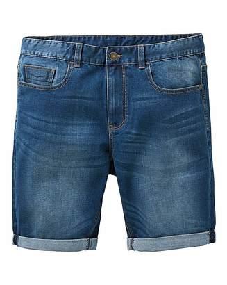 Jacamo Indigo Slim Denim Shorts