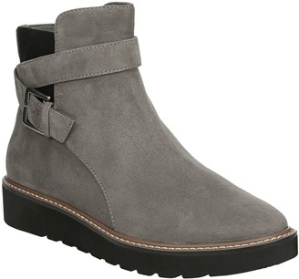 Naturalizer Flatform Leather Ankle Boots - Aster