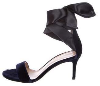 Gianvito Rossi Gala Velvet Sandals w/ Tags