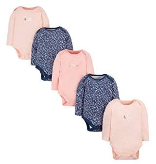 Mothercare Baby Girls' Floral and Bunny Bodysuit,(Manufacturer Size: 050)