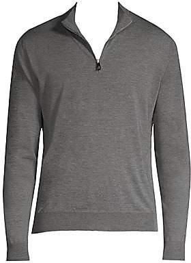 Corneliani Men's Quarter-Zip Sweater