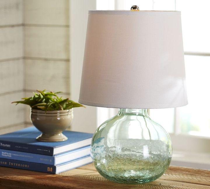 Pottery Barn Fairmont Glass Crackle Table Lamp