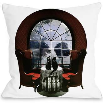 One Bella Casa Room Skull Decorative Pillow