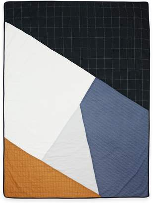 Anchal Project Large Throw Quilt (Camel & Charcoal)