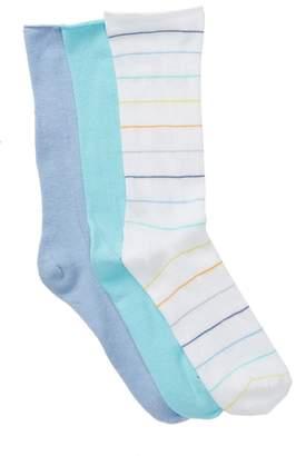 Hue Roll Top Socks - Pack of 3