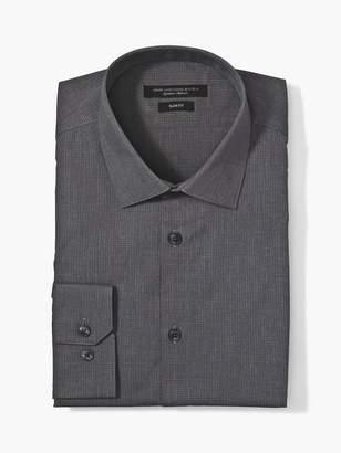 John Varvatos SLIM FIT DRESS SHIRT WITH HOOK CLOSURE