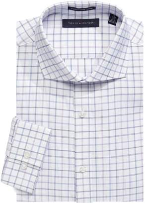 Tommy Hilfiger Slim-Fit Non-Stretch Checkered Dress Shirt
