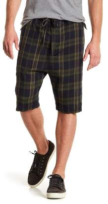 Vince Plaid Drawstring Linen Shorts