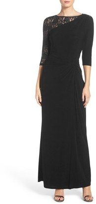 Women's Ellen Tracy Sequin Lace & Jersey Gown $178 thestylecure.com